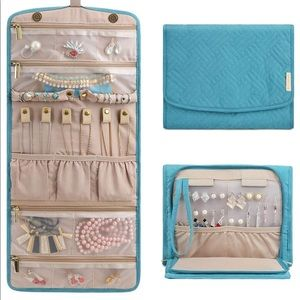 NEW Large Teal Travel Jewelry Organizer